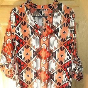 Size M Aztec long shirt/dress